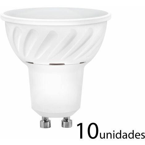 10 unidades Bombilla LED dicroica aluminio fundido 120 120 GU10 10W fría 1000lm