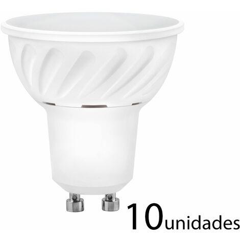 10 unidades Bombilla LED dicroica aluminio fundido 120 120 GU10 10W neutra 980lm
