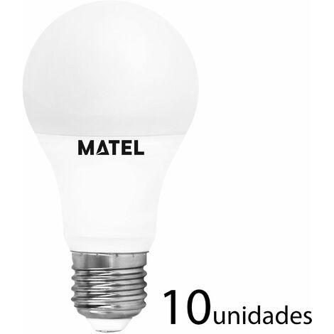 10 unidades Bombilla LED estándar E27 10w cálida 950lm