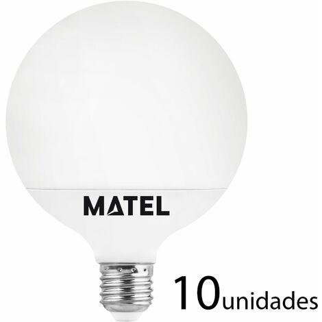 10 unidades bombilla LED globo G80 E27 12w neutra 1180lm