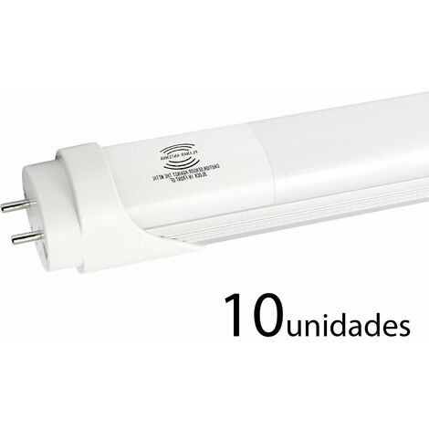 10 unidades tubo LED SENSOR ALUMINIO 150cm 25w frío