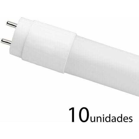 10 unidades tubo LED T8 330 CRISTAL 120cm 18w cálido