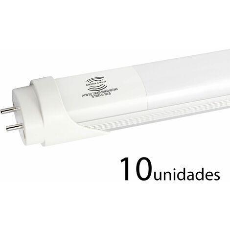 10 unidades tubo LED T8 ALUMINIO MATE 120cm 18W neutro
