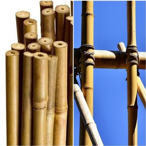 10 Unidades. Tutor Caña de Bambú, Entutorar Plantas - Arboles. 120 Cm