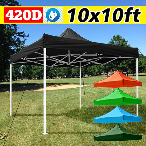 10 x 10 feet above canopy replacement for patio gazebo Oxford roof gazebo Umbrella cover (dark green, 10x10ft)