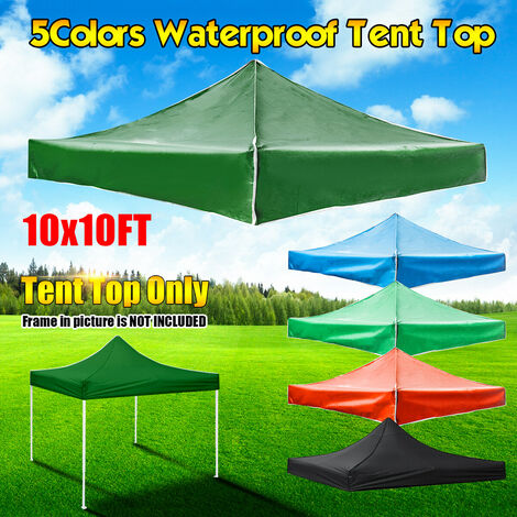 10 x 10 feet above replacement canopy for patio gazebo Oxford roof gazebo Umbrella cover (light green, 10 x 10 feet)
