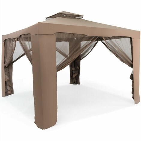"""main image of """"10 x 10 FT Canopy Gazebo Outdoor Garden Shelter Tent Double Tiered Roof Soft Top"""""""