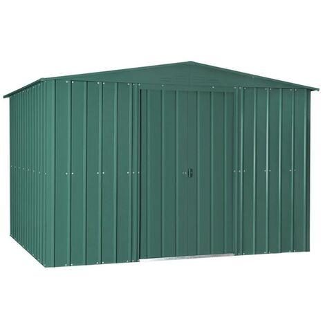 10 x 12 Premier EasyFix – Apex – Metal Shed - Heritage Green (3.07m x 3.71m)