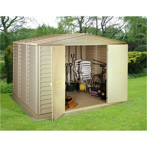 10 x 13 Deluxe Duramax Plastic Pvc Shed With Steel Frame (3.19m x 3.98m)