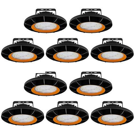 10 x 200W UFO LED High Bay Light 26000LM SMD2835 White LED Warehouse Lighting IP65 Commercial Bay Lighting