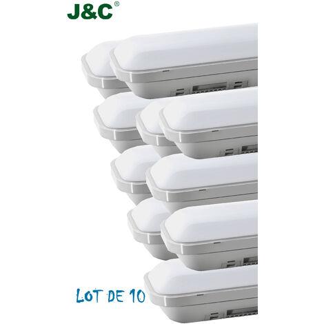 10 x 2ft ( 60cm ) 12W 1000LM IP65 Natural White LED Batten Slim Tri-Proof Anti Corrosive Ceiling Light