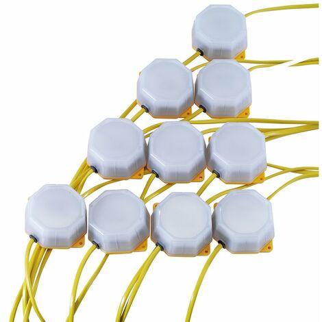 4W SMD LED Festoon String Lights (22 Metre Cable, Set of 10)