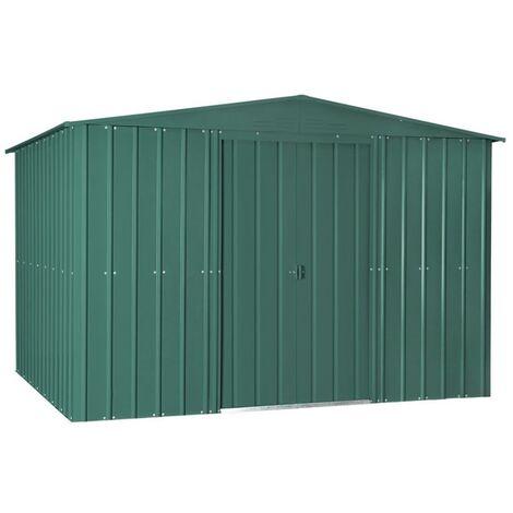 10 x 6 Premier EasyFix – Apex – Metal Shed - Heritage Green (3.07m x 1.85m)