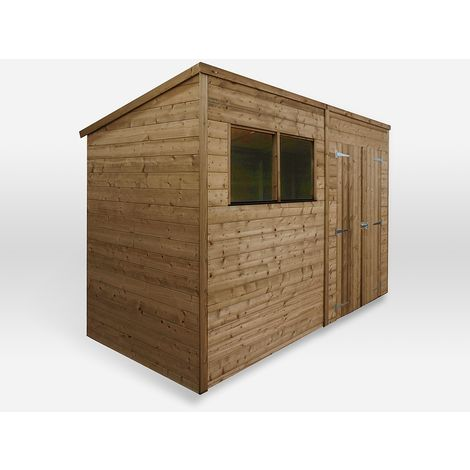 10 x 6 Waltons Pressure Treated Pent Garden Shed