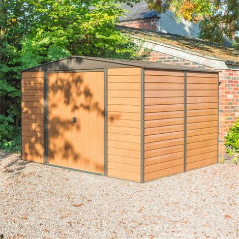 10 x 8 Deluxe Woodvale Metal Shed (3.13m x 2.42m)