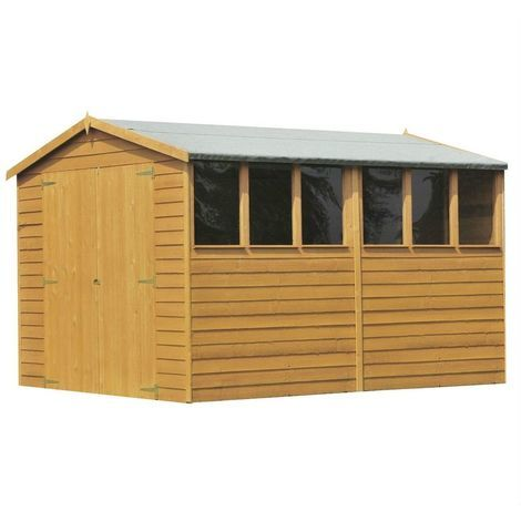 10 x 8 Overlap Shed with Double Doors