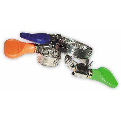 10 x colliers de serrage en acier inoxydable Colliers 16-27 mm papillon pas besoin de tournevis
