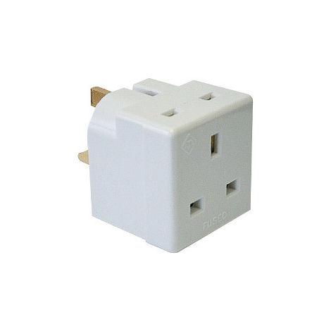 10 X Dencon 2 Way Adaptor Multi Plug Electrical Electric Socket Amp Pack