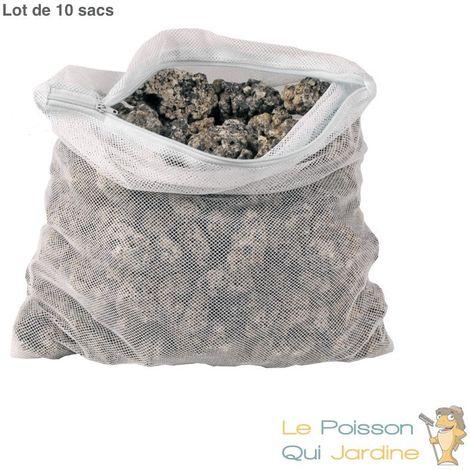 10 X Filet chaussette pour filtration bassin de jardin 42 cm X 33 cm