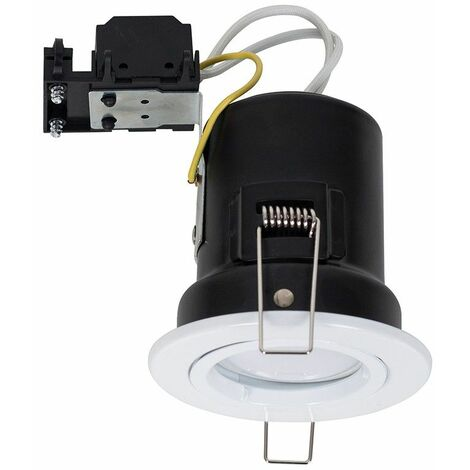 10 x Fire Rated Die Cast Twist & Lock White Ceiling Downlight Recessed