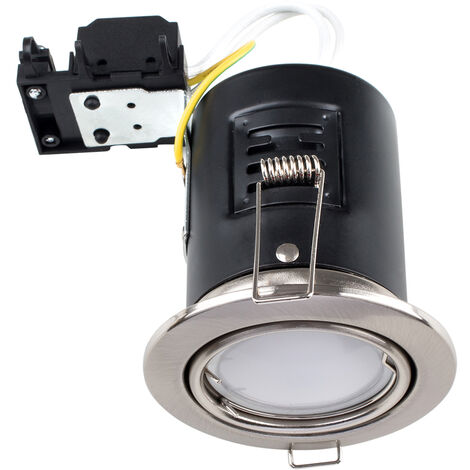 10 x Fire Rated GU10 Tiltable Ceiling Recessed Downlights