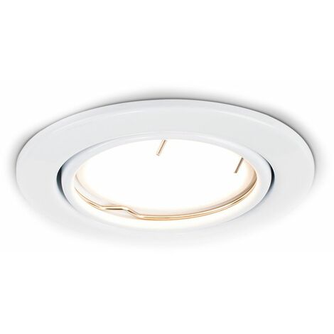 """main image of """"10 x Fire Rated GU10 Tiltable Ceiling Recessed Downlights"""""""