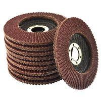 "10 x Flap Discs 40 Grit Angle Grinder 4.5"" (115mm) Flat Sanding Grinding AU025"
