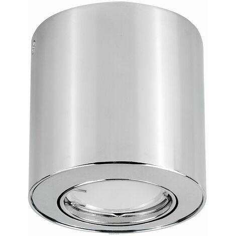 10 x Gu10 Tiltable Surface Mounted Ceiling Spotlight Downlights + 5W Gu10 Cool White LED Bulbs