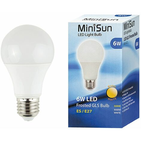 10 x High Power 6w LED ES E27 SMD GLS Energy Saving Bulbs - 3000K Warm White