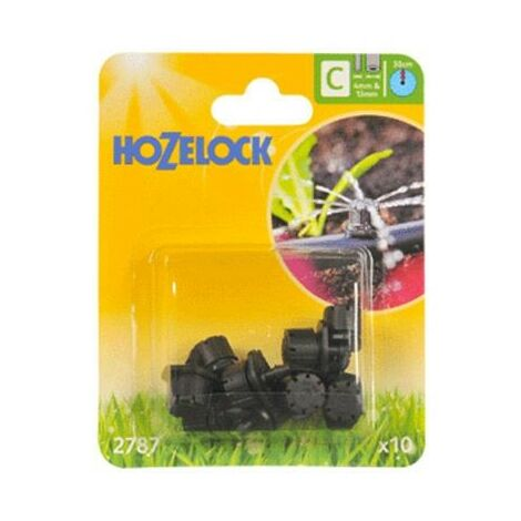 10 x Hozelock 2787 End Line Adjustable Mini Water Sprinkler Micro Irrigation