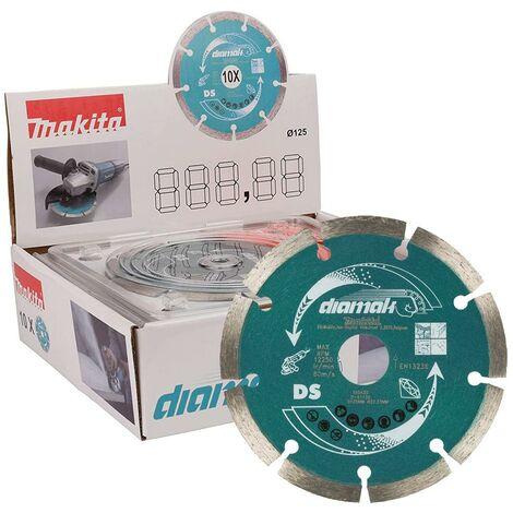 10 x Makita D-61139 SEG Diamond Cutting Disc 125mm Blade Concrete Stone Cutter