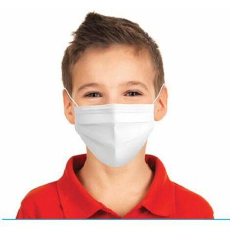 10 x Medizinische Kindermaske Einwegmaske Typ II 2 EN14683:2019+AC:2019 + BFE > 98% Mundschutz Maske für Kinder