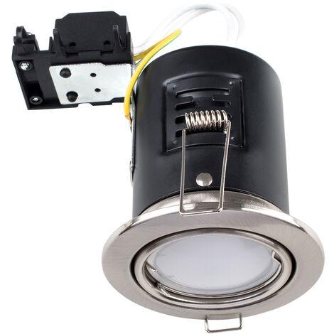 10 x MiniSun Fire GU10 Tiltable Ceiling Recessed Downlights