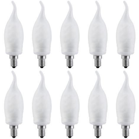 10 x Paulmann 880.69 Energiesparlampe Kerze Cosy 7W E14 warmweiß Leuchtmittel