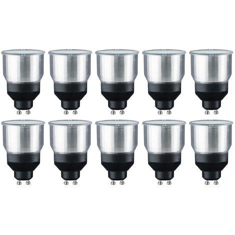 10 x Paulmann 892.38 Energiesparlampe Reflektor 11W GU10 warmweiß