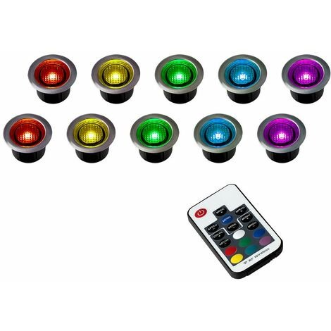 """main image of """"Blue LED Round Garden Decking / Kitchen Plinth IP67 Rated Lights Kit - Pack of 20"""""""
