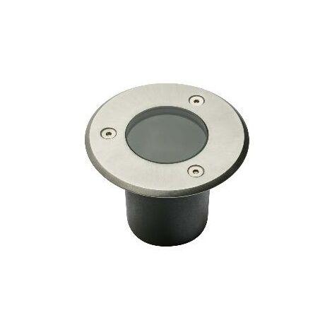 10 X Spot exterieur Encastrable pour led GU10 Acier Rond.