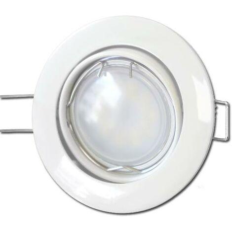 10 X Spots Led GU10 Encastrable Blanc Led 7W rendu 50W 120 Blanc Chaud