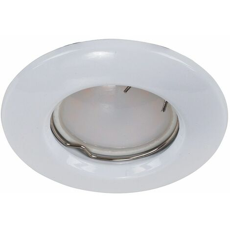 10 x White Recessed Gu10 Round Ceiling Downlight Light Fittings