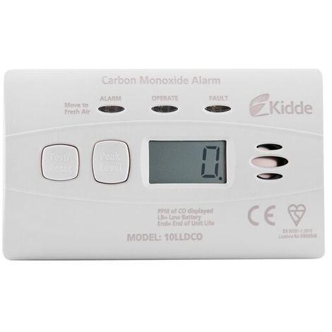 10 Year Longlife Battery Digital Carbon Monoxide Alarm - Kidde 10LLDCO