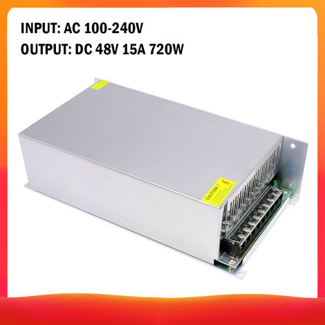 100-240 AC a DC 48V 15A 720W Transformador de voltaje regulado Switching Power-Supplys convertidor adaptador para tiras de luz para camara del ordenador de Radiocomunicaciones Proyecto