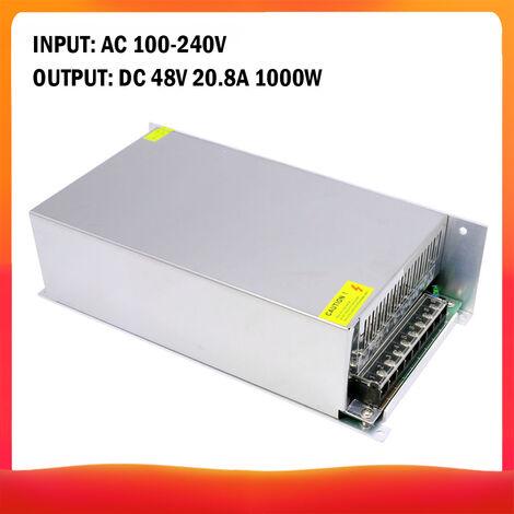 100-240 AC a DC 48V 20.8A 1000W Transformador de voltaje regulado Switching Power-Supplys convertidor adaptador para tiras de luz para camara del ordenador de Radiocomunicaciones Proyecto