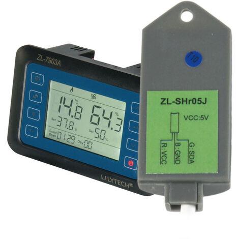 100 ~ 240V Zl-7903A Lcd Affichage De La Temperature Intelligente Humidite Controleur Couveuse Intelligent Humidite Incubateur, Avec Capteur Zl-Shr05P
