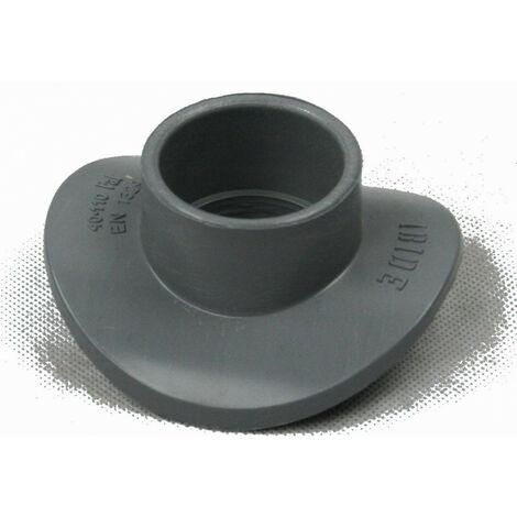 100- 40, Selle pour branchement, PVC 90°, Diamètre 100-110, réduction 40 mm.