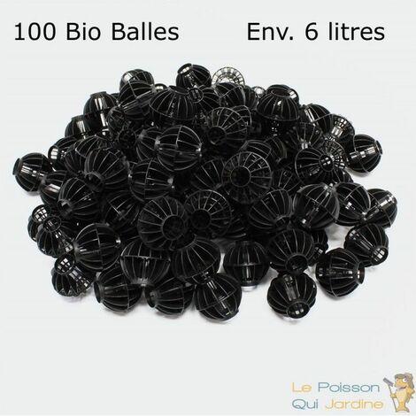 100 Bio Balles ( 6 Litres ) 45mm Pour Filtre Bassin De Jardin