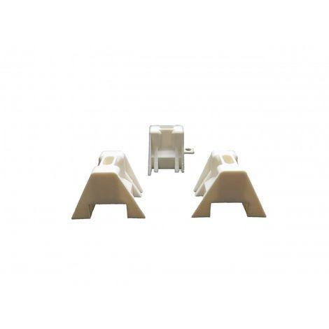 100 cales de fixation pour plaque bac acier 1045, polycarbonate et polyester - Coloris - Blanc, Surface couverte en m² - 10