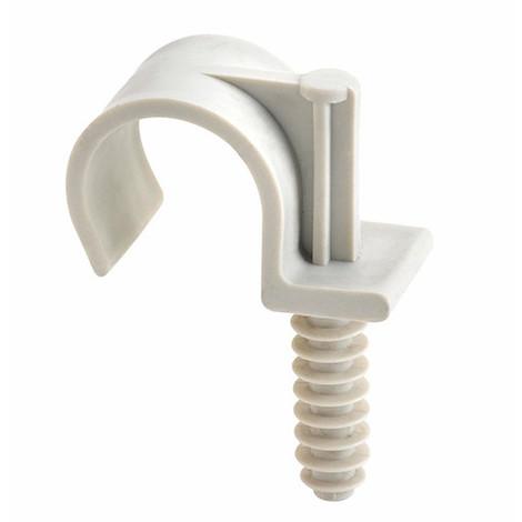 100 clips de fixation en plastique pour tuyau INDEXring simple, D. 28 mm - ABTS028 - Index - Autre