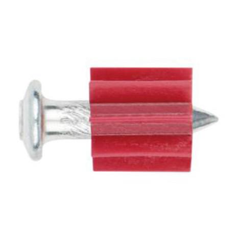 100 clous striés rondelle métallique 12 mm pour cloueur à poudre 3,8 x 19 mm - FPCG0819 - Index