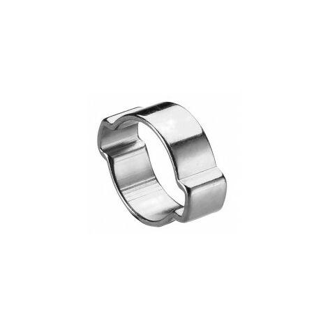 100 colliers de serrage à oreilles - DE Ø 7 à 9 mm A Ø 17 à 20 mm