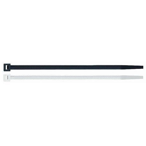 100 colliers de serrage en plastique noir 3,6 x 140 mm - BN36140 - Index - Noir -
